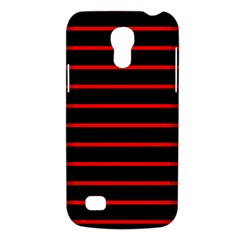 Red And Black Horizontal Lines And Stripes Seamless Tileable Galaxy S4 Mini by Amaryn4rt