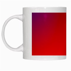 Rainbow Background White Mugs