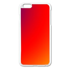 Rainbow Background Apple Iphone 6 Plus/6s Plus Enamel White Case