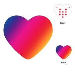 Rainbow Colors Playing Cards (heart)