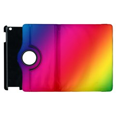 Rainbow Colors Apple Ipad 3/4 Flip 360 Case by Amaryn4rt