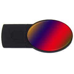 Rainbow Two Background Usb Flash Drive Oval (4 Gb)