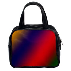 Rainbow Two Background Classic Handbags (2 Sides) by Amaryn4rt