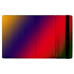 Rainbow Two Background Apple Ipad 2 Flip Case