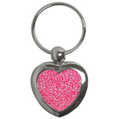 Template Deep Fluorescent Pink Key Chains (heart)  by Amaryn4rt
