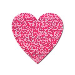 Template Deep Fluorescent Pink Heart Magnet by Amaryn4rt