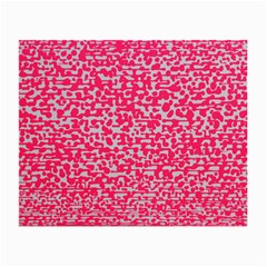 Template Deep Fluorescent Pink Small Glasses Cloth (2 Side)