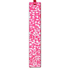 Template Deep Fluorescent Pink Large Book Marks by Amaryn4rt
