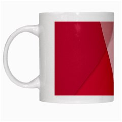 Red Material Design White Mugs