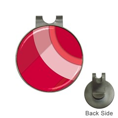 Red Material Design Hat Clips With Golf Markers