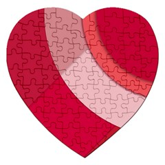 Red Material Design Jigsaw Puzzle (heart) by Amaryn4rt