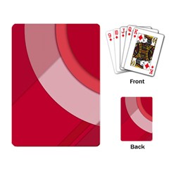 Red Material Design Playing Card by Amaryn4rt