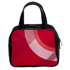 Red Material Design Classic Handbags (2 Sides) by Amaryn4rt