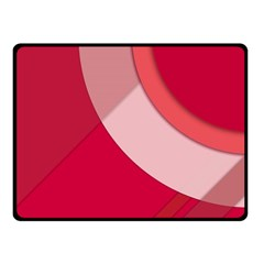 Red Material Design Fleece Blanket (small) by Amaryn4rt