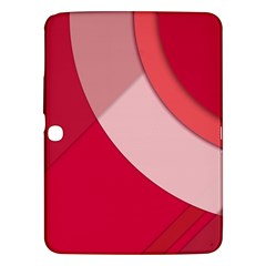 Red Material Design Samsung Galaxy Tab 3 (10 1 ) P5200 Hardshell Case