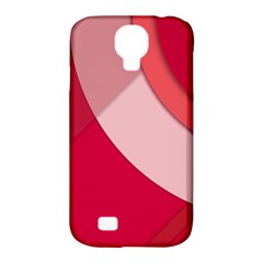 Red Material Design Samsung Galaxy S4 Classic Hardshell Case (pc+silicone)