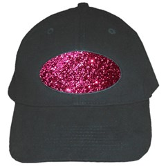 Pink Glitter Black Cap by Amaryn4rt
