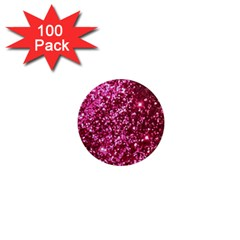Pink Glitter 1  Mini Magnets (100 Pack)  by Amaryn4rt