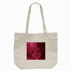 Pink Glitter Tote Bag (cream)