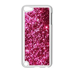 Pink Glitter Apple Ipod Touch 5 Case (white) by Amaryn4rt