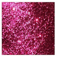 Pink Glitter Large Satin Scarf (square)