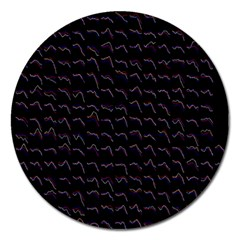 Smooth Color Pattern Magnet 5  (round)