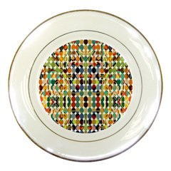 Retro Pattern Abstract Porcelain Plates by Amaryn4rt