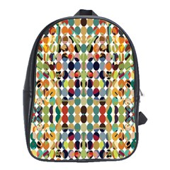 Retro Pattern Abstract School Bags(large)