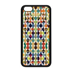 Retro Pattern Abstract Apple Iphone 5c Seamless Case (black) by Amaryn4rt