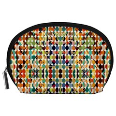 Retro Pattern Abstract Accessory Pouches (large)  by Amaryn4rt