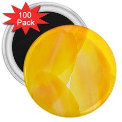 Yellow Pattern Painting 3  Magnets (100 Pack)