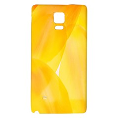 Yellow Pattern Painting Galaxy Note 4 Back Case by Amaryn4rt