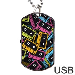 Type Pattern Dog Tag Usb Flash (one Side)
