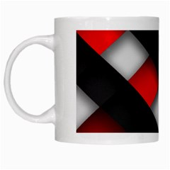 Red Textured White Mugs
