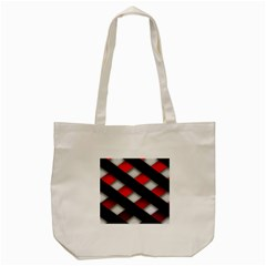 Red Textured Tote Bag (cream)