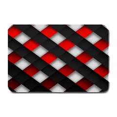 Red Textured Plate Mats by Amaryn4rt