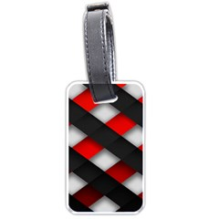 Red Textured Luggage Tags (one Side)