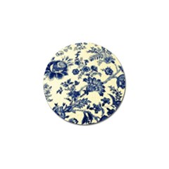 Vintage Blue Drawings On Fabric Golf Ball Marker (10 Pack)