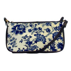 Vintage Blue Drawings On Fabric Shoulder Clutch Bags by Amaryn4rt