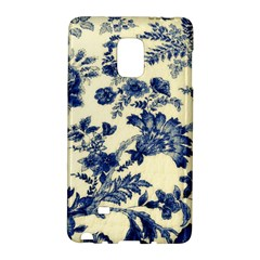 Vintage Blue Drawings On Fabric Galaxy Note Edge by Amaryn4rt