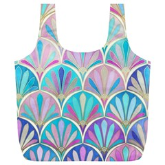Beautiful Blue Sea Shell Full Print Recycle Bags (l)  by Brittlevirginclothing