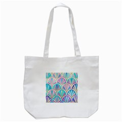 Beautiful Blue Sea Shell Tote Bag (white) by Brittlevirginclothing