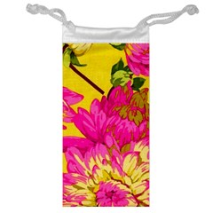 Beautiful Pink Flowers Jewelry Bag by Brittlevirginclothing