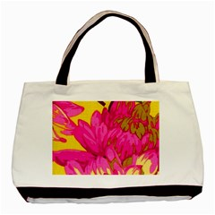 Beautiful Pink Flowers Basic Tote Bag by Brittlevirginclothing