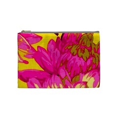 Beautiful Pink Flowers Cosmetic Bag (medium)  by Brittlevirginclothing