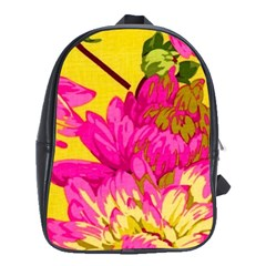 Beautiful Pink Flowers School Bags(large)  by Brittlevirginclothing