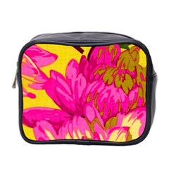 Beautiful Pink Flowers Mini Toiletries Bag 2 Side by Brittlevirginclothing