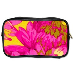 Beautiful Pink Flowers Toiletries Bags 2 Side by Brittlevirginclothing