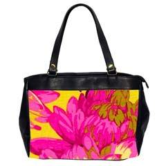 Beautiful Pink Flowers Office Handbags (2 Sides)  by Brittlevirginclothing