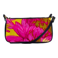 Beautiful Pink Flowers Shoulder Clutch Bags by Brittlevirginclothing